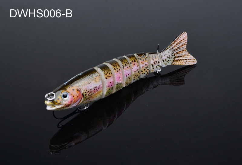 4-84zoll-Angeln-Koeder-Swimbait-lebensechte-Wobbler-Hecht-Bass-Killer-verbunden Indexbild 2