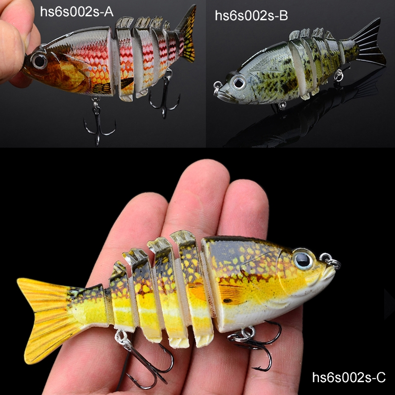 4.06? Multi-section Fishing Lure Swimbait Crankbait Bass Shad Killer 20.7g