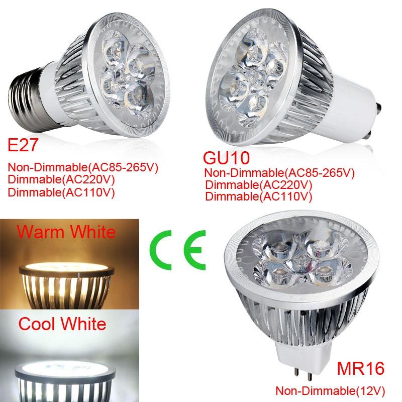 Spot Licht MR16 E27 GU10 LED COB 5W 12V Weiß Warm Dimmbare Lampen 110V 220V