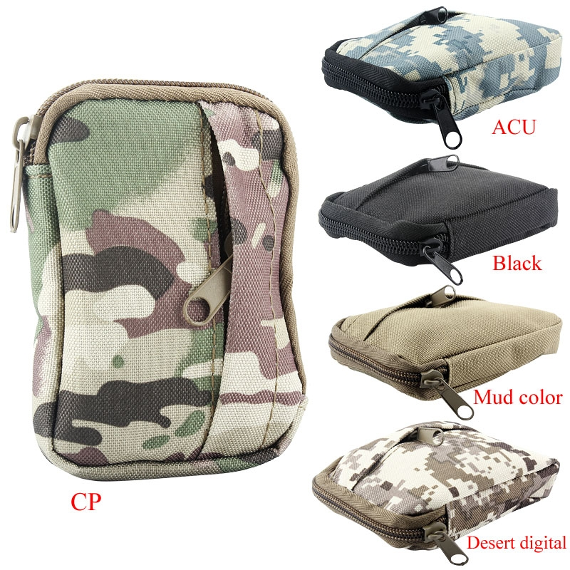 Military TacticalCasual Coin Purse Army OutdoorSports Waist Bag ZipperPouch