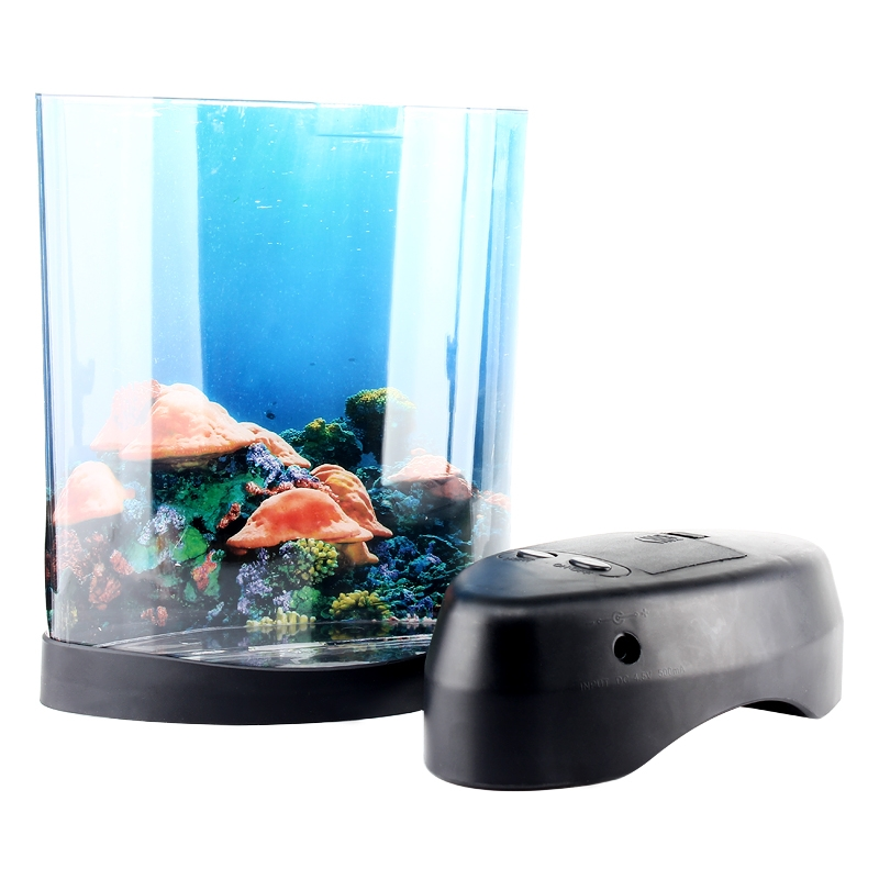 Great Mini Jelly Fish Tank Water Lamp Bedroom Mood Night