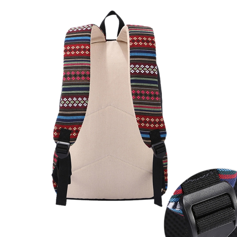 Stylish Snow Matching Canvas Shoulder Bag Travel Satchel School Backpack