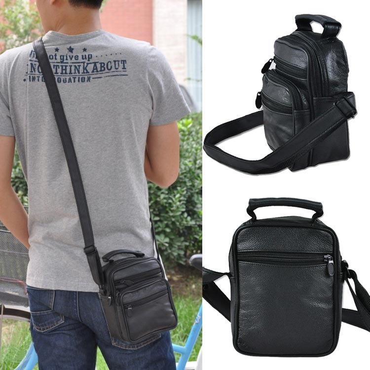 New Stylish Men Single Shoulder Bag Messenger Bag Backpack Tote Travel Pack