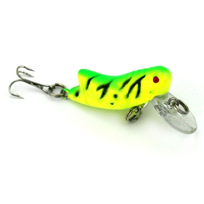 Lot 7PCS Lifelike Locust Fishing Lure Swimming Bait Crank Hook Bass 4.51cm