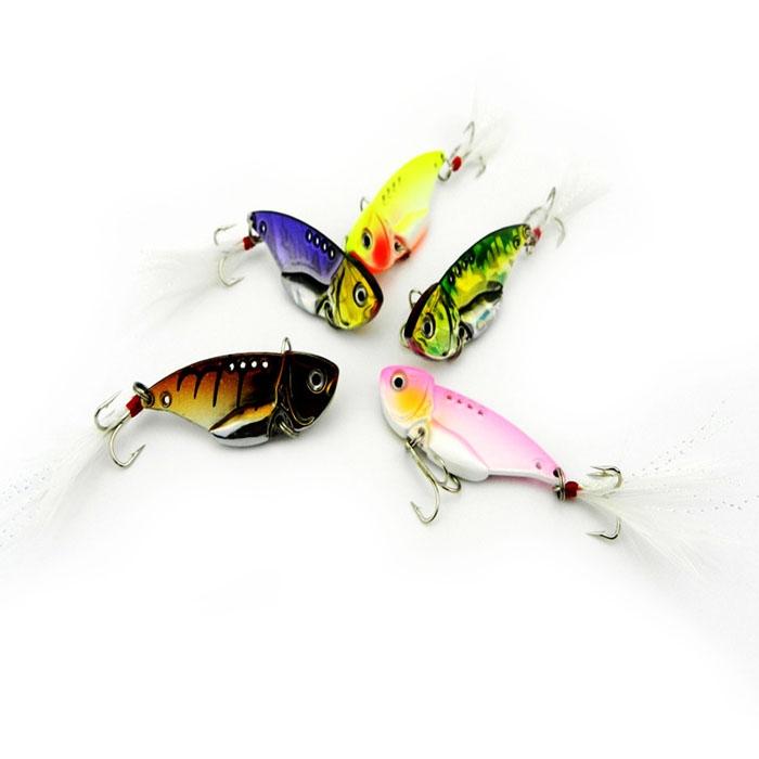 7PCS Lifelike Locust Fishing Lure Swimming Bait Crank Hook Bass 4.51cm NICE
