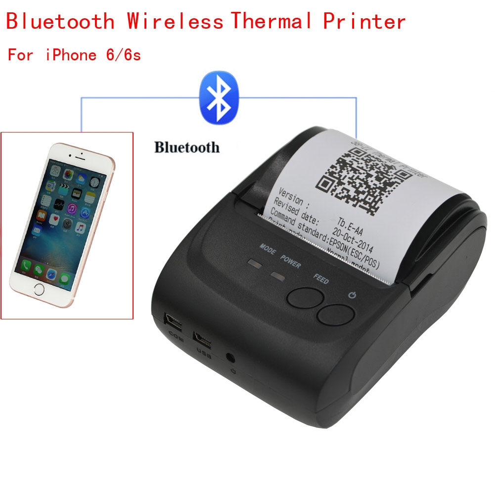 iphone portable printer 90mm sec 58mm bluetooth wireless thermal receipt pos 3089